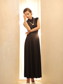 Long Dress Pesta Korea Jual Model Terbaru Murah