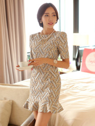 Baju Dress Korea Cantik