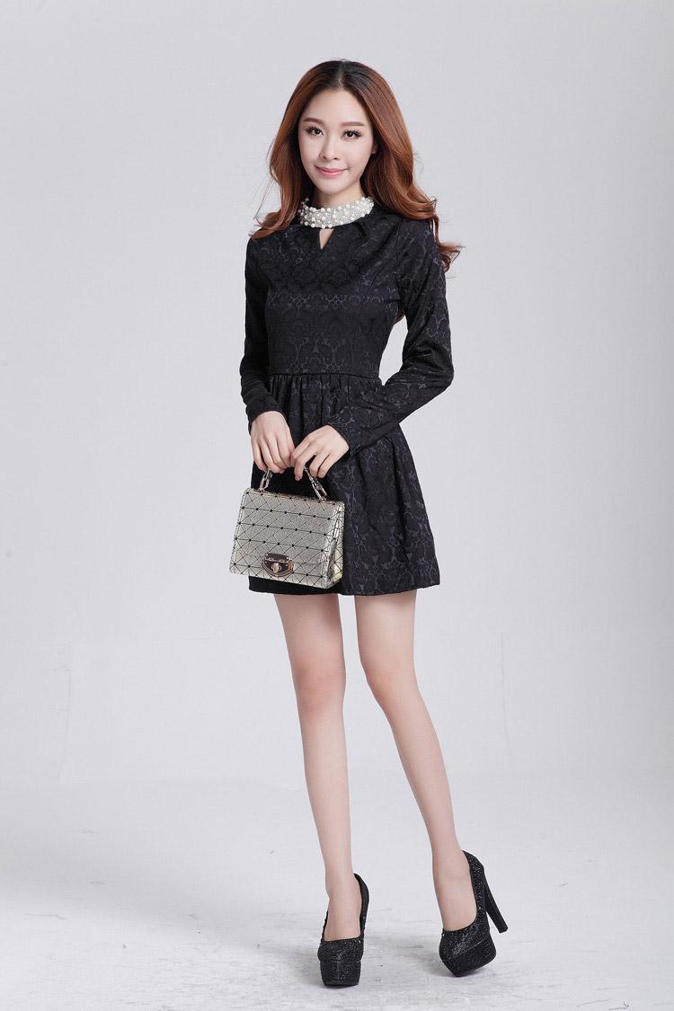 Dress Korea Terbaru Hitam