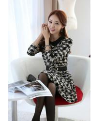 Dress Korea Terbaru Houndstooth
