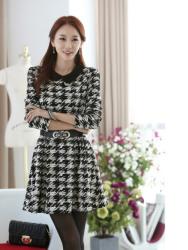 Jual Dress Korea Houndstooth
