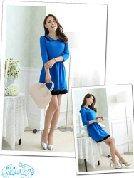 BELI MINI DRESS KOREA ONLINE LENGAN PANJANG