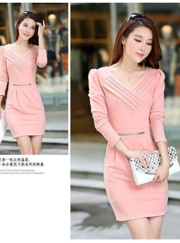 DRESS KOREA LENGAN PANJANG MODIS ONLINE