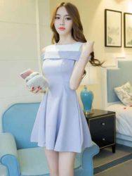 Toko Baju Wanita Dress Korea Cantik Long Dress Pesta Model