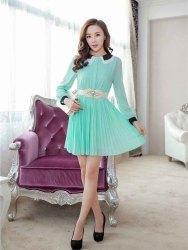 DRESS SIFON LENGAN PANJANG TERBARU 2015