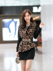 DRESS WANITA MOTIF LEOPARD 2015