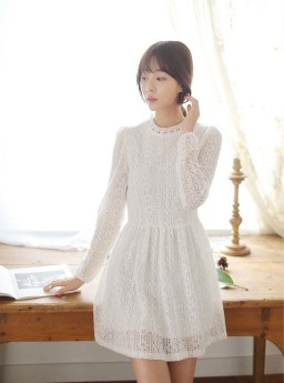 DRESS KOREA BAHAN RAJUT TERBARU