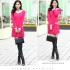DRESS KOREA WARNA PINK CANTIK