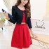 DRESS MERAH CANTIK GRATIS CARDIGAN