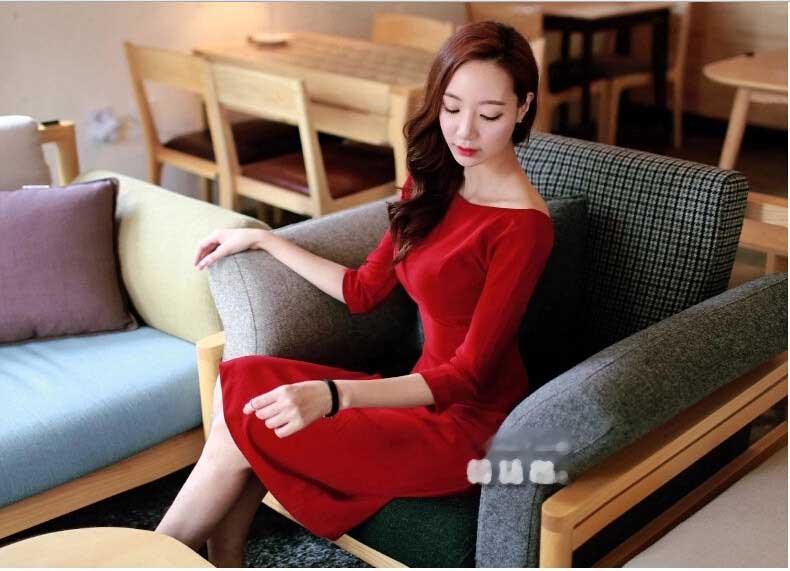 DRESS MERAH WANITA KOREA CANTIK TERBARU FASHION