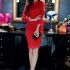DRESS NATAL WARNA MERAH MODERN 2015