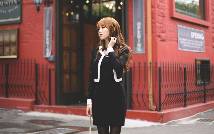 DRESS WANITA KERJA MODERN TERBARU ONLINE KOREA