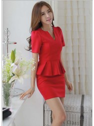 DRESS NATAL MERAH ELEGANT TERBARU 2015 MODIS