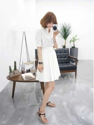 DRESS PUTIH LENGAN PANJANG ONLINE 2016 FASHION