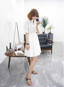DRESS PUTIH LENGAN PANJANG ONLINE 2016