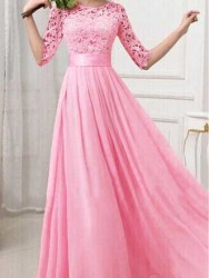 LONG DRESS PINK CANTIK TERBARU 2016 MODERN