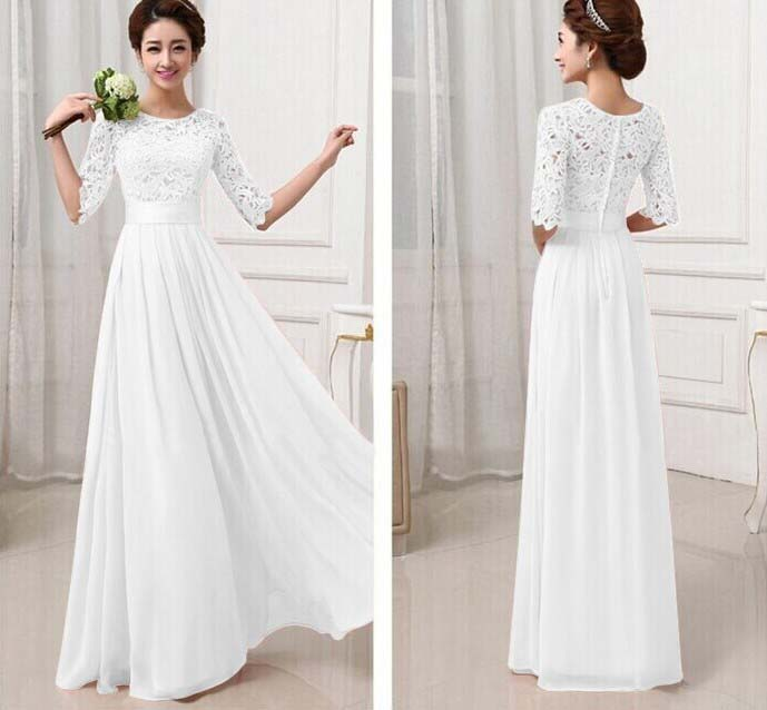 LONG DRESS PUTIH IMPORT ONLINE 2016