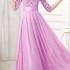 LONG DRESS UNGU ELEGANT IMPORT 2016