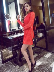MINI DRESS NATAL LENGAN PANJANG CANTIK FASHION