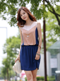 MINI DRESS KOREA LENGAN BUNTUNG