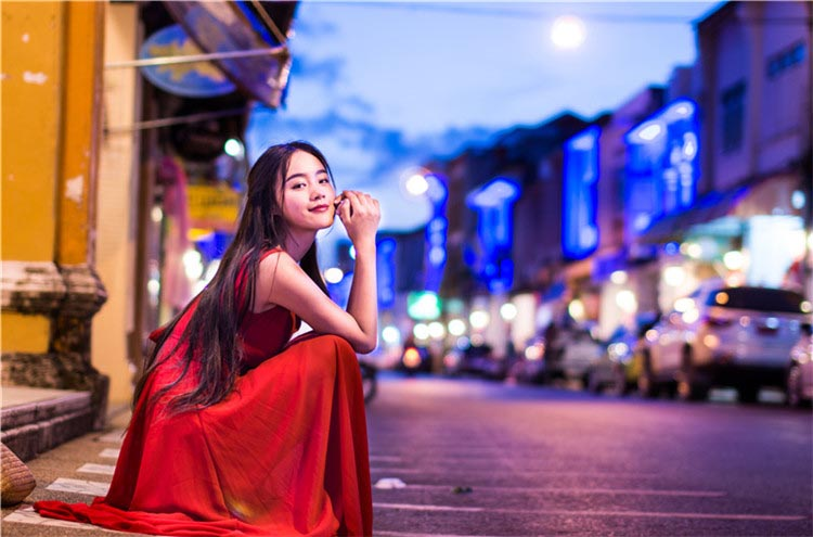 LONG DRESS ANGGUN MERAH CANTIK 2015 KOREA