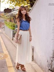 LONG DRESS BAHAN SIFON MODIS 2015 KOREA