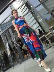 LONG DRESS LENGAN BUNTUNG MOTIF BUNGA FASHION