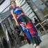LONG DRESS LENGAN BUNTUNG MOTIF BUNGA