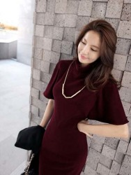 DRESS WANITA MODEL KOREA ELEGANT