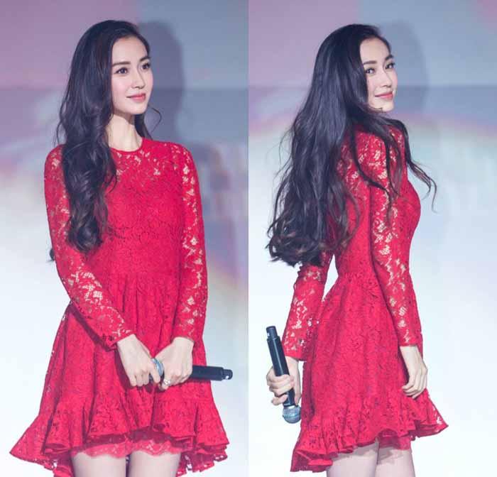 JUAL MINI DRESS BROKAT MERAH IMPORT 2016