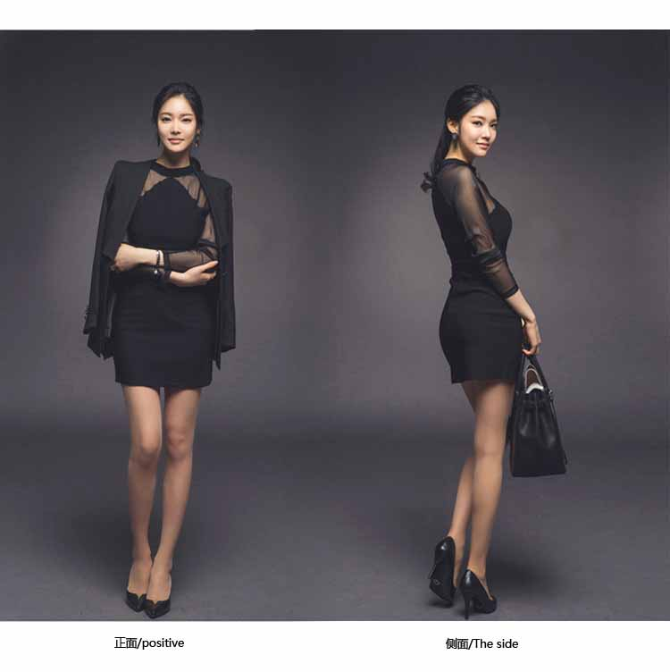 MINI DRESS COTTON HITAM ELEGANT 2016 FASHION
