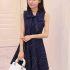 DRESS BIRU PITA CANTIK KOREA 2016