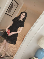 DRESS HITAM ELEGANT TERBARU 2016 FASHION