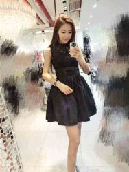 dress-hitam-lengan-buntung-import-2016-1