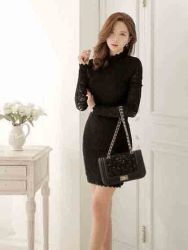 dress-mini-lengan-panjang-hitam-elegant-1
