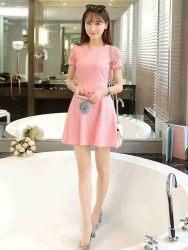 dress-pink-renda-cantik-korea-2016-1