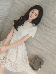 DRESS PUTIH RENDA SIMPLE IMPORT 2016 FASHION