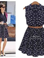 dress-simple-navy-bermotif-terbaru-2016-1
