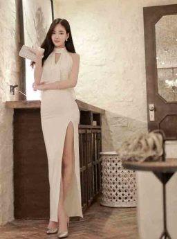 Long Dress Pesta Putih Elegant 2016 Jual Model Terbaru Murah