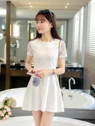 MINI DRESS CANTIK KOREA IMPORT 2016