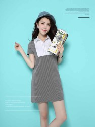 MINI DRESS HITAM PUTIH IMPORT TERBARU
