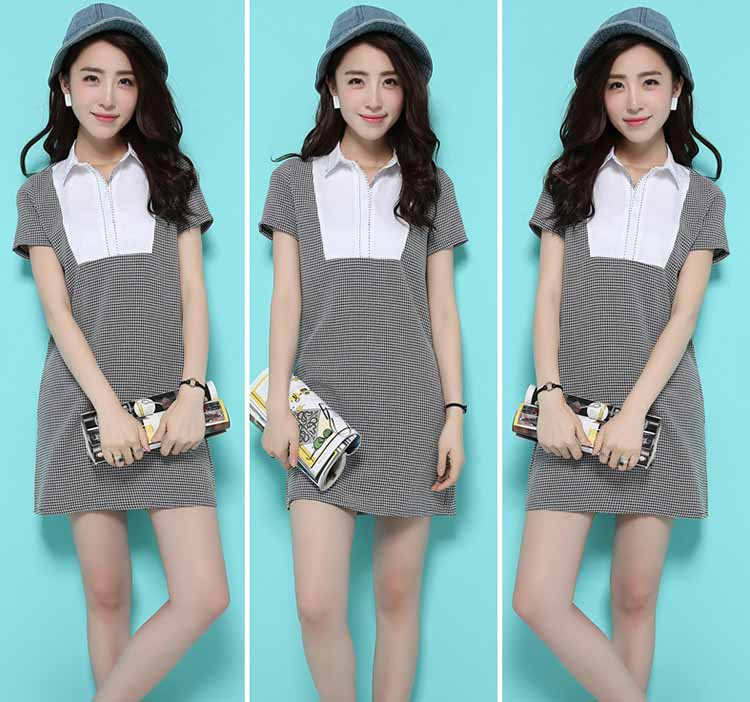 MINI DRESS HITAM PUTIH IMPORT TERBARU FASHION