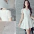 MINI DRESS PUTIH LENGAN PENDEK SIMPLE