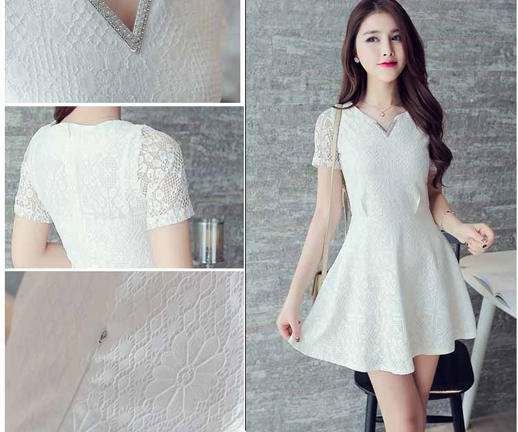 MINI DRESS PUTIH LENGAN PENDEK SIMPLE FASHION