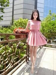 MINI DRESS WARNA PINK SIMPLE 2016 KOREA