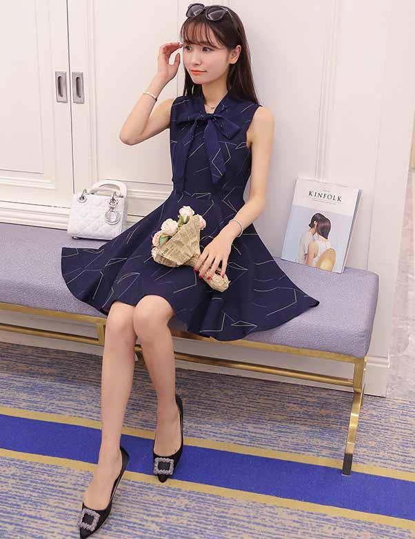 DRESS BIRU PITA CANTIK KOREA 2016 FASHION