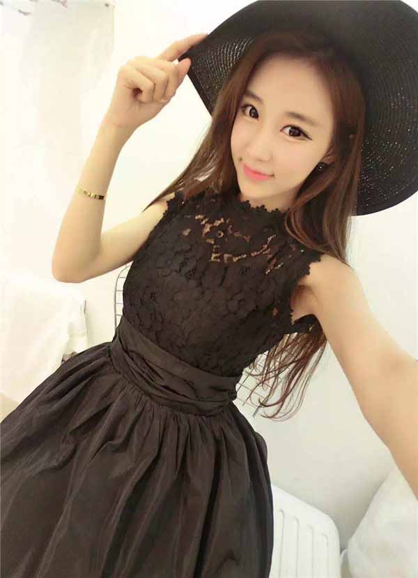 dress-hitam-lengan-buntung-import-2016