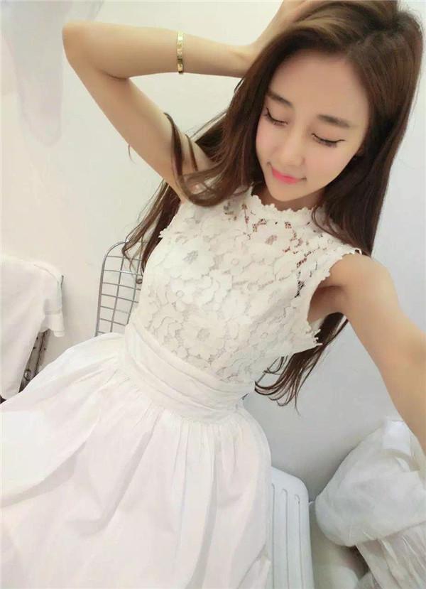 dress-lengan-buntung-renda-putih-2016