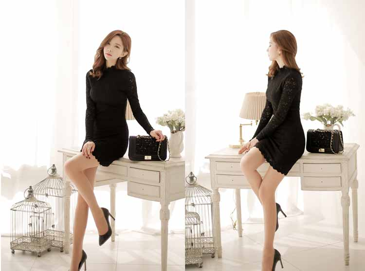 dress-mini-lengan-panjang-hitam-elegant-2016