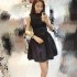 DRESS HITAM LENGAN BUNTUNG IMPORT 2016